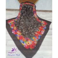 چارقد ترکمنی ایتالیایی رنگ مشکی