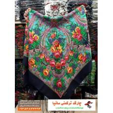 چارقد محلی ترکمنی ریشه دار طرح دلار کد a52